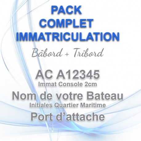 PACK COMPLET IMMAT