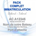 Kit complet immatriculation bateau