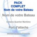Pack complet nom de votre bateau adhésif