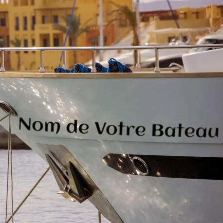Nom de votre bateau sur la proue
