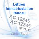 Lettres immatriculation bateau