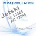 Immatriculation JETSKI